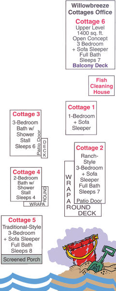 willowbreeze cottage map